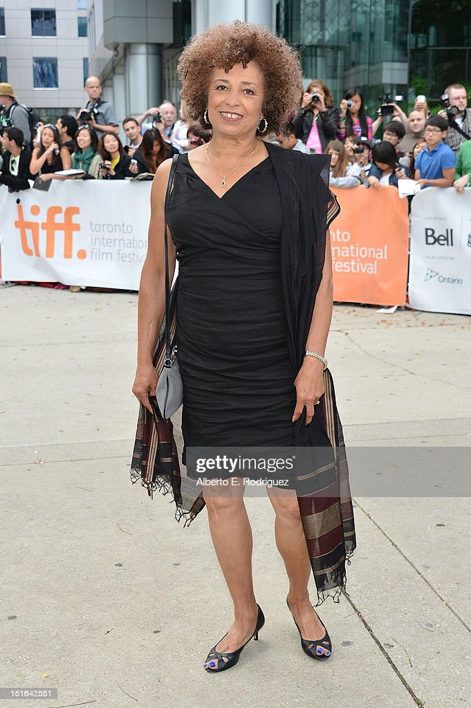 Activist and Scholar Angela Davis attends the 'Free Angela & All Political Prisoners' premiere during the 2012 Toronto International Film Festival at Roy Thomson Hall on September 9, 2012 in Toronto, Canada.