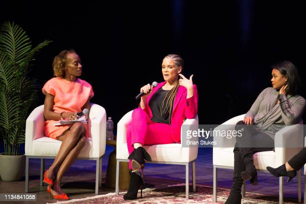 Activist and writer Michaela Angela Davis serves as panelists for Black Girl Magic panel during BGR Fest Day 2 at The Kennedy Center on March 09 2019...