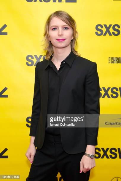 Activist Chelsea Manning attends Free Radical Chelsea Manning with Vogue's Sally Singer during SXSW at Austin Convention Center on March 13 2018 in...