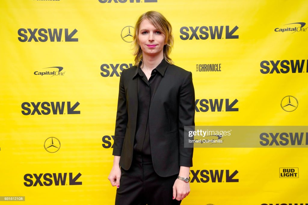 Activist Chelsea Manning attends Free Radical: Chelsea Manning with Vogue's Sally Singer during SXSW at Austin Convention Center on March 13, 2018 in Austin, Texas.