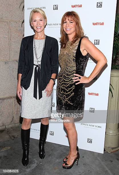 Activist Cheryl Saban and television personality Jill Zarin attend the First Annual Jones New York power lunch at The Campbell Apartment on September...