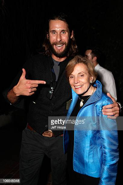 Activist David de Rothschild and TED Prize winner Dr Sylvia Earle attend the TED Prize and Tiffany Co Foundation presentation of the TED Prize held...