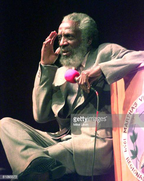 Activist Dick Gregory Speaks At The Regional High School In Oak Bluffs August 9 2001 At Martha's Vineyard Ma The Event Was Presented By The Martha's...