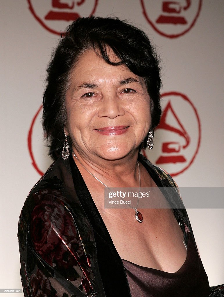 Activist Dolores Huerta arrives at the 2005 Latin Recording Academy Person of the Year tribute dinner at the Regent Beverly Wilshire Hotel on November 1, 2005 in Beverly Hills, California.