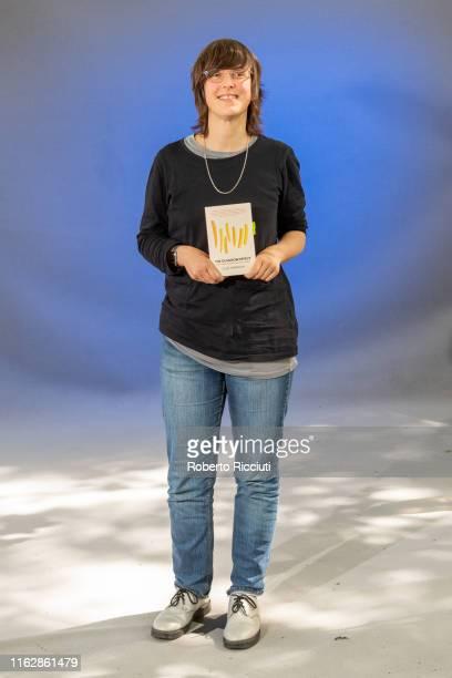 Activist Ellie Harrison attends a photocall during the Edinburgh International Book Festival 2019 on August 20, 2019 in Edinburgh, Scotland.