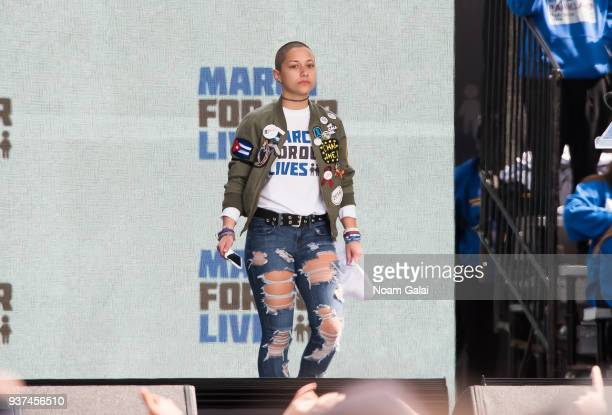 Activist Emma Gonzalez speaks during March For Our Lives on March 24 2018 in Washington DC
