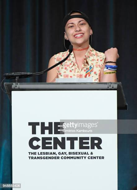 Activist Emma Gonzalez speaks onstage at The Center Dinner 2018 at Cipriani Wall Street on April 19 2018 in New York City