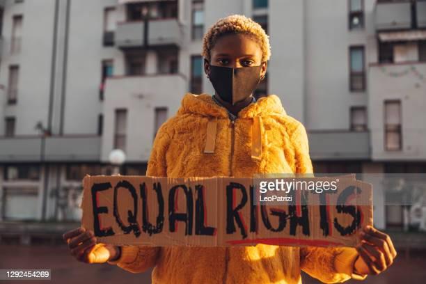 平等な権利のための活動家 - 社会運動 ストックフォトと画像