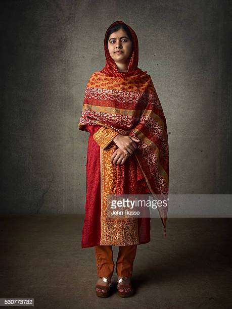 Activist for female education and the youngest-ever Nobel Prize laureate Malala Yousafzai is photographed for 20th Century Fox on August 1, 2015 in...
