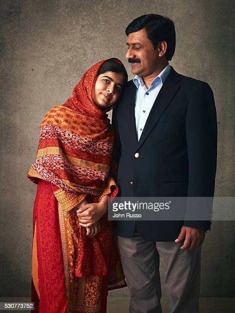 Activist for female education and the youngest-ever Nobel Prize laureate Malala Yousafzai is photographed with her father Ziauddin Yousafzai for 20th...
