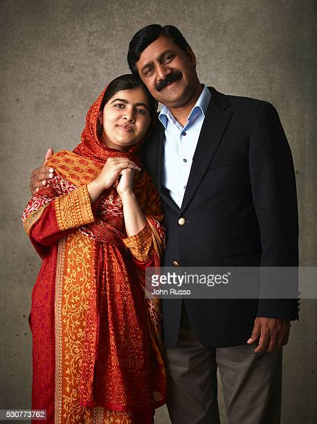 Activist for female education and the youngestever Nobel Prize laureate Malala Yousafzai is photographed with her father Ziauddin Yousafzai for 20th...