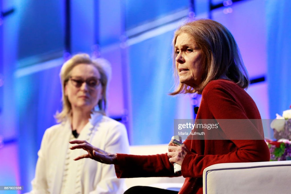 Activist Gloria Steinem speaks during the Massachusetts Conference for Women 2017 at the Boston Convention Center on December 7, 2017 in Boston, Massachusetts.