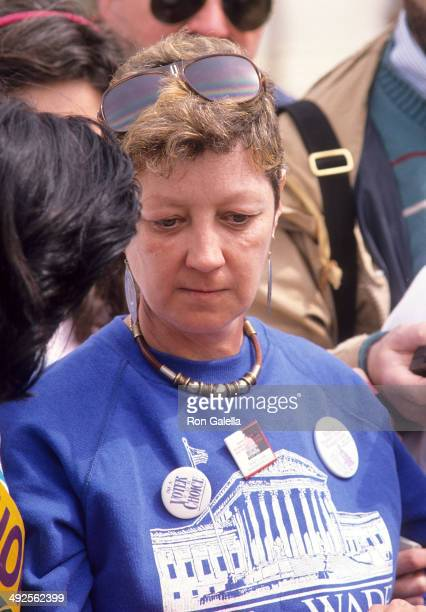 Activist Jane Roe attends the National Organization for Women's March for Women's Equality/Women's Live ProChoice Rally on April 9 1989 at Capitol...