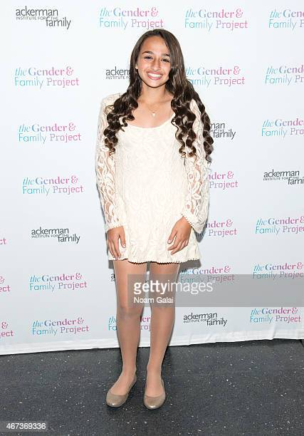 Activist Jazz Jennings attends The Ackerman Institute's Gender Family Project's A Night of a Thousand Genders at Joe's Pub on March 23 2015 in New...