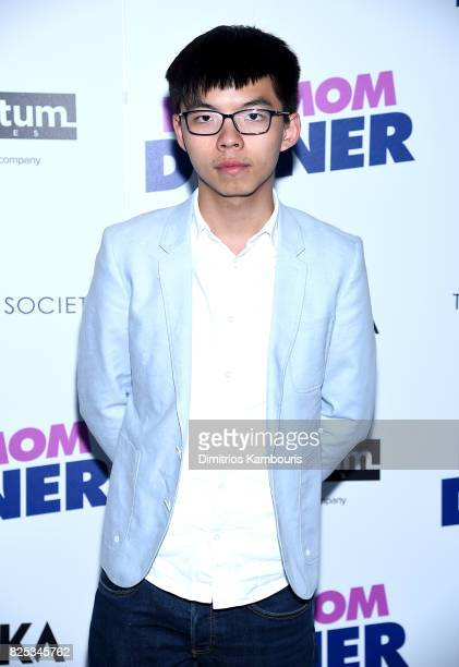 "Activist Joshua Wong attends the screening Of ""Fun Mom Dinner"" at Landmark Sunshine Cinema on August 1, 2017 in New York City."