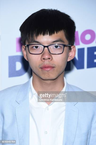 Activist Joshua Wong attends the screening Of Fun Mom Dinner at Landmark Sunshine Cinema on August 1 2017 in New York City
