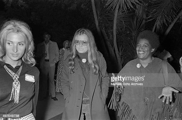 Activist journalist and leader of the feminist movement Gloria Steinem attends a fundraiser and rally for California State Senate candidate Catherine...