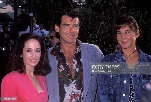 Activist Lilly Tartikoff actor Pierce Brosnan and athlete Monica Seles attend An Evening at the Net Benefit for Revlon/UCLA Women's Cancer Research...