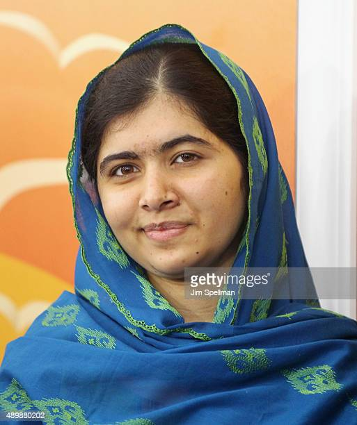 Activist Malala Yousafzai attends the 'He Named Me Malala' New York premiere at the Ziegfeld Theater on September 24 2015 in New York City