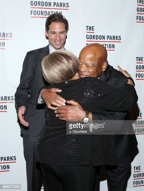 Activist Mavis Staples and congressman John Lewis attend the 2017 Gordon Parks Foundation Awards Gala at Cipriani 42nd Street on June 6 2017 in New...