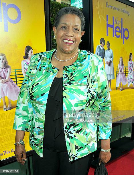 Activist Myrlie EversWilliams attends the premiere of DreamWorks Pictures' 'The Help' held at The Academy of Motion Picture Arts and Sciences Samuel...