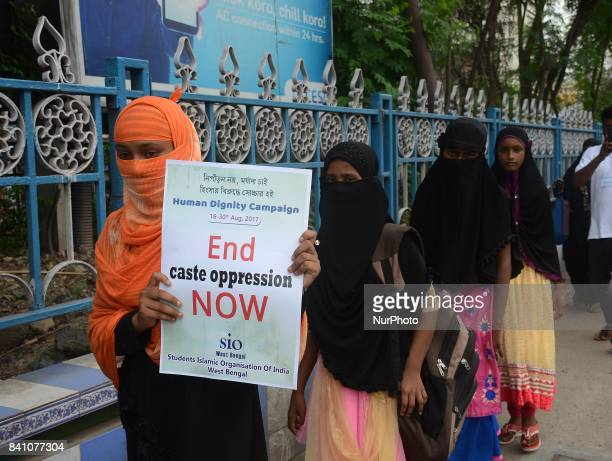 Activist of Student Islamic Organization organized a peace rally demanding nationwide Human Dignity campaign in Kolkata, India on Wednesday, 30th...