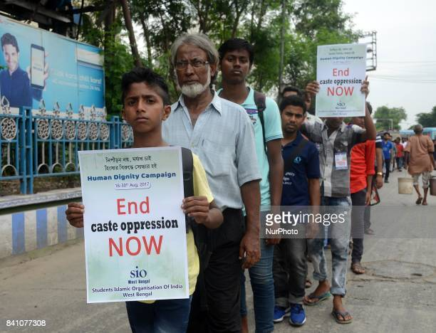 Activist of Student Islamic Organization organized a peace rally demanding nationwide Human Dignity campaign in Kolkata India on Wednesday 30th...