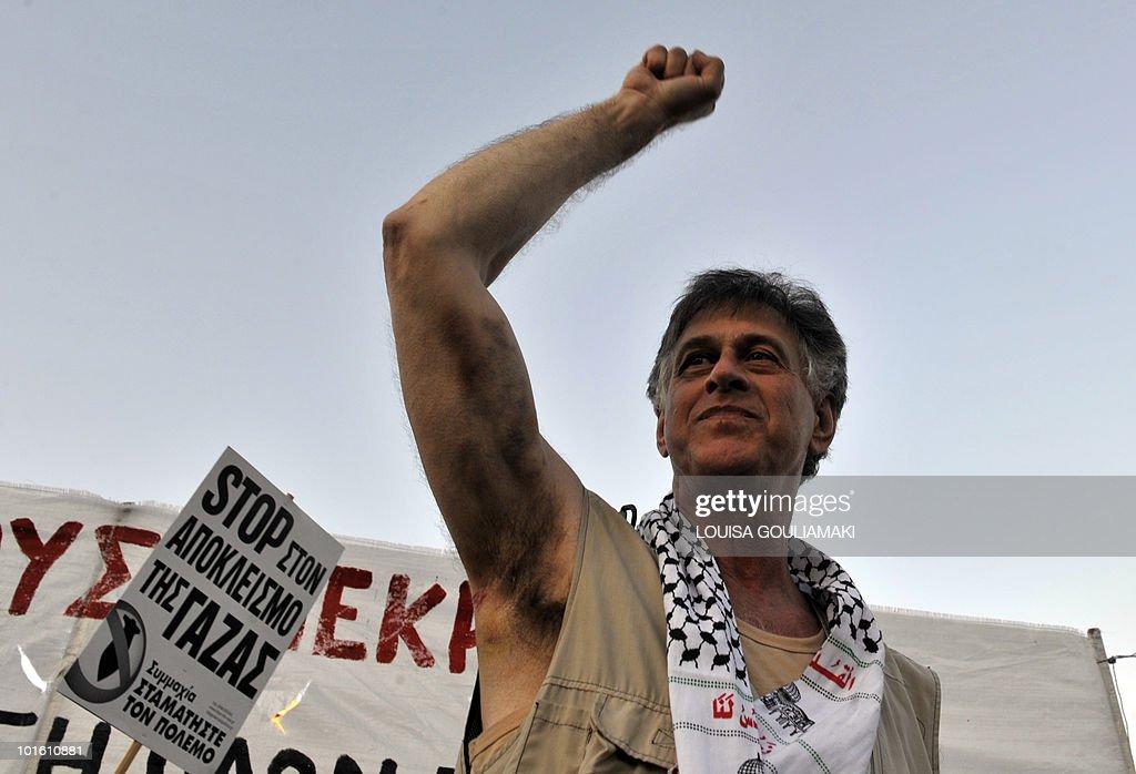 US activist Paul Larudee, who arrived wi : News Photo