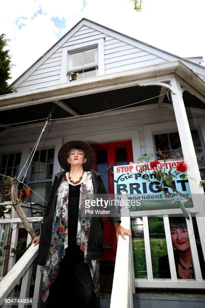 Activist Penny Bright poses for a portrait at her Kingsland home on March 20 2018 in Auckland New Zealand Ms Bright has refused to leave her house...