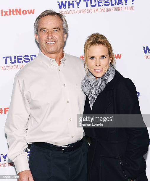 Activist Robert F Kennedy Jr and actress Cheryl Hines attend The Roots' Lets Fix It concert at Webster Hall on November 2 2014 in New York City