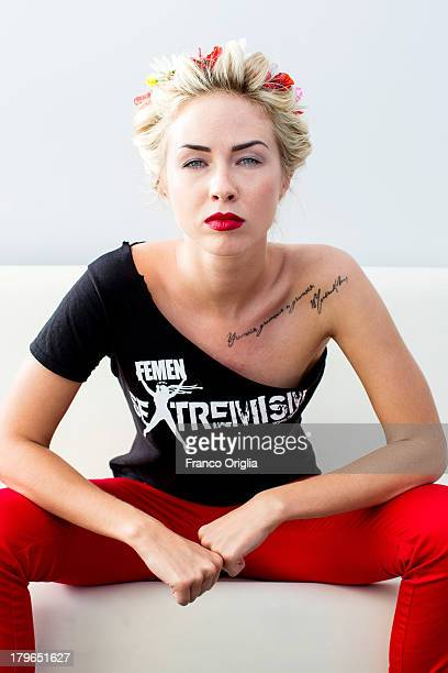 FEMEN activist Sasha Shevchenko poses during the 'Femen' Portrait Session for the film 'Ukraine Is Not A Brothel' as part of the 70th Venice...