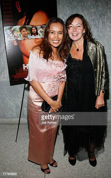 Activist Somaly Mam and Wendy Maguire arrive at the UN for the Screening of Holly and the launch of the Somaly Mam Foundation on November 7 2007 in...