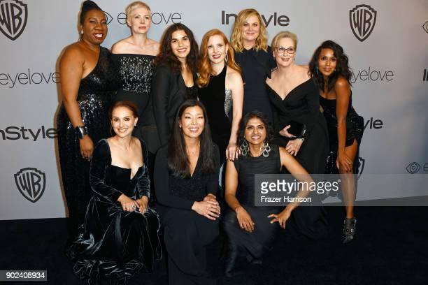 Activist Tarana Burke actor Michelle Williams actor America Ferrera actor Jessica Chastain actor Amy Poehler actor Meryl Streep actor Kerry...