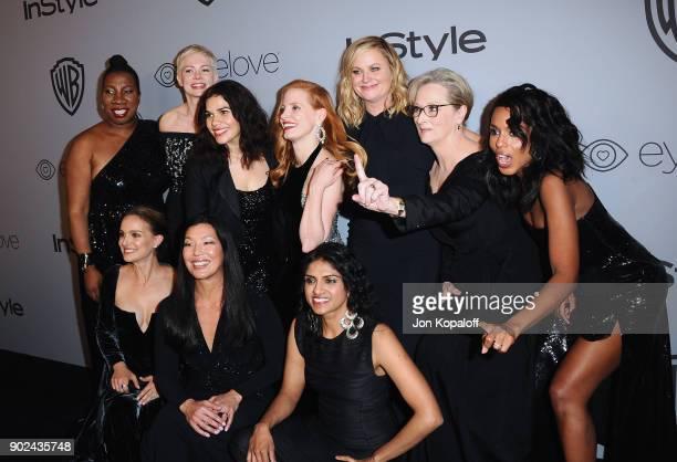 Activist Tarana Burke actor Michelle Williams actor America Ferrera actor Jessica Chastain actor Amy Poehler actor Meryl Streep and actor Natalie...