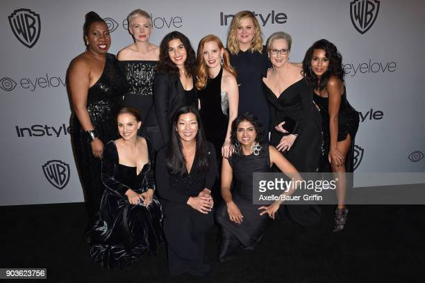 Activist Tarana Burke actors Michelle Williams America Ferrera Jessica Chastain Amy Poehler Meryl Streep Kerry Washington Natalie Portman activists...