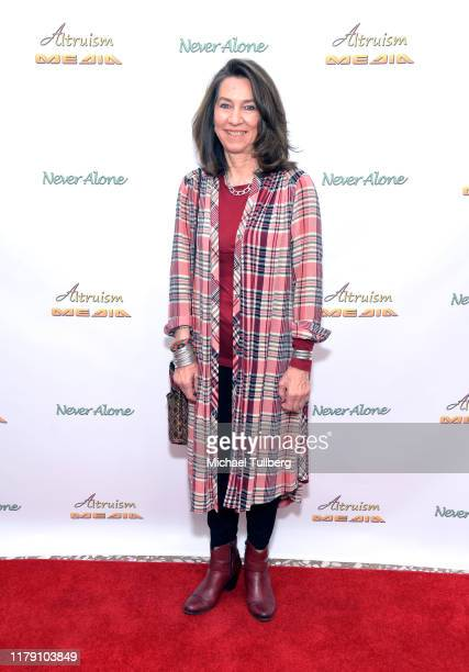 """Activist Terry Kruger attends the premiere of the film """"Never Alone"""" at Arena Cinelounge on October 04, 2019 in Hollywood, California."""