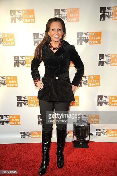 Activist Wendy Diamond attends the 4th Annual Focus for Change at Roseland Ballroom on November 20 2008 in New York City