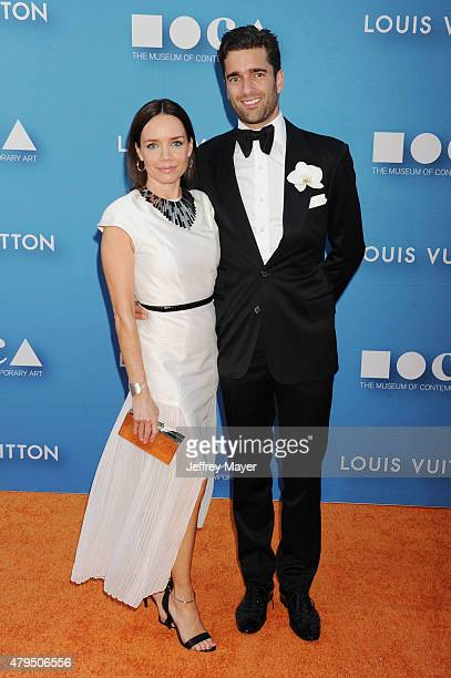 Activist/philanthropist Jessica Robin Trent and Matthew Nolan arrive at the 2015 MOCA Gala presented by Louis Vuitton at The Geffen Contemporary at...