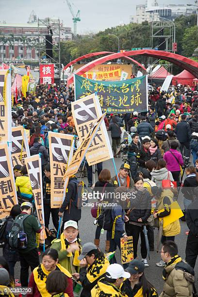 Activists and civic groups took to the streets for an annual antinuclear rally Held to coincide with the anniversary of the Fukushima nuclear...