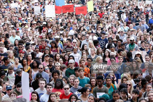Activists and students from Marjory Stoneman Douglas High School attend a rally at the Florida State Capitol building to address gun control on...