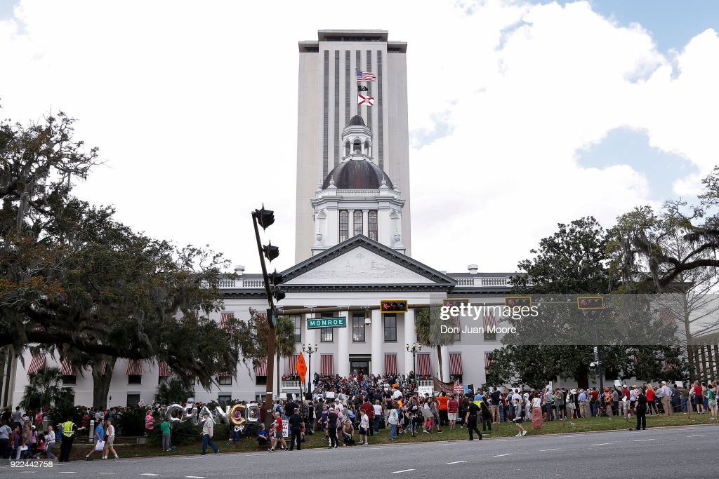 Parkland Students, Activists, Rally At Florida State Capitol For Gun Control : News Photo