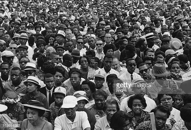 Activists at the March on Washington for Jobs and Freedom Washington DC 28th August 1963 The rally was organized to press for civil and economic...