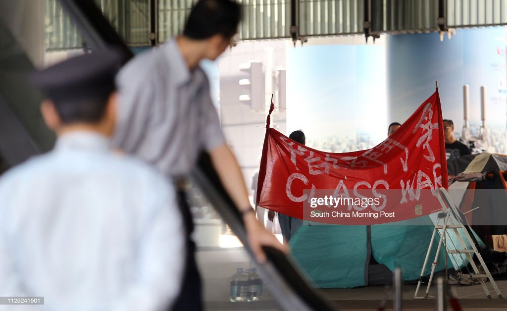 Activists continue their anti-capitalism campaign 'Occupy Central