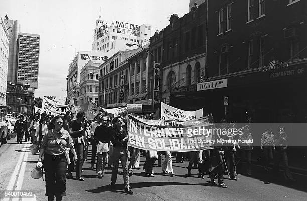 Activists demonstrate in what would evolve into the Sydney Gay and Lesbian Mardi Gras, 1978 SMH NEWS Picture by STAFF