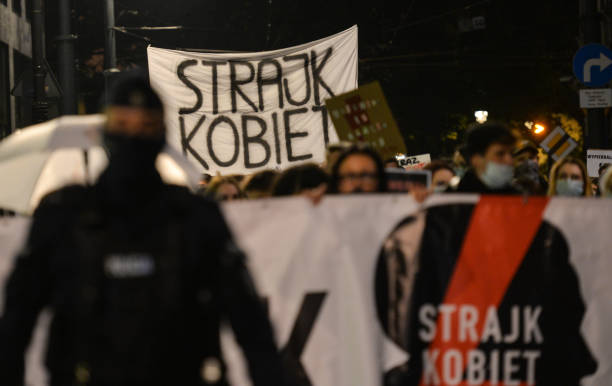 POL: Prto-Choice 'This Is War!' Protest In Krakow