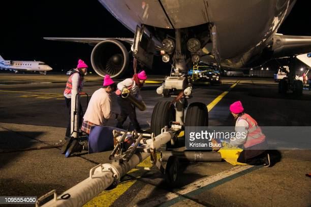 Activists enter Stansted Airport and block a chartered deportation flight on 28th of March 2017 at Stansted Airport, Stansted, United Kingdom. The...