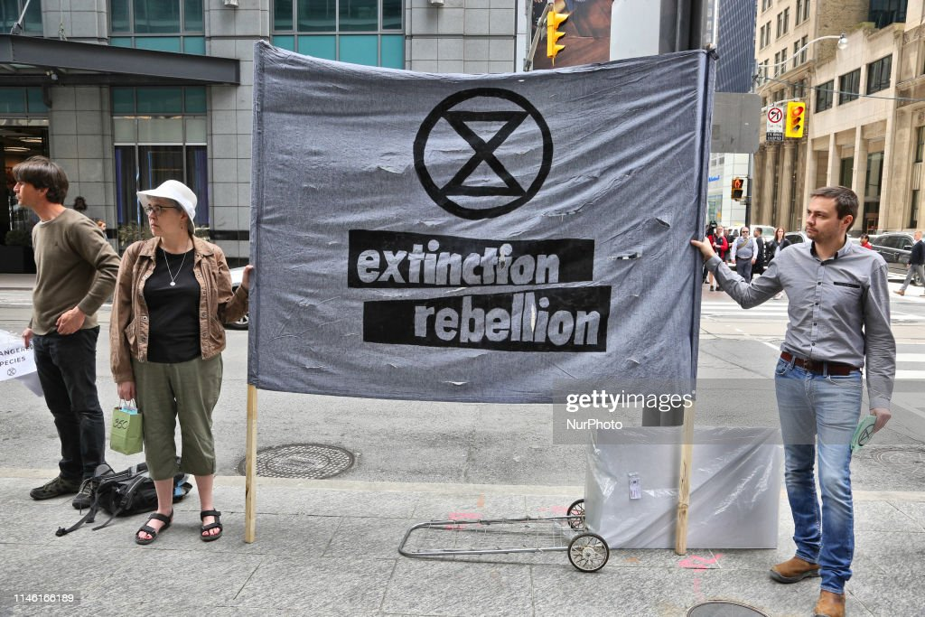 Rally Against Fossil Fuels And Climate Change In Toronto, Canada : News Photo