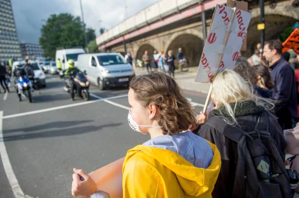 GBR: Extinction Rebellion Swarm Roads In South East London