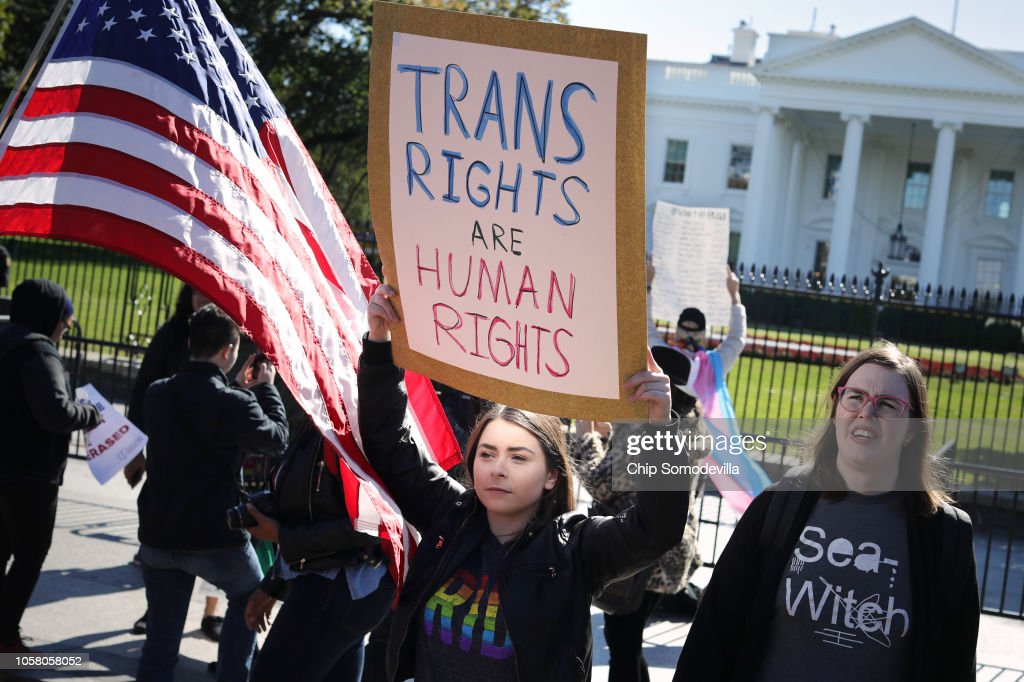 Activists Rally For Transgender Rights Outside The White House : News Photo