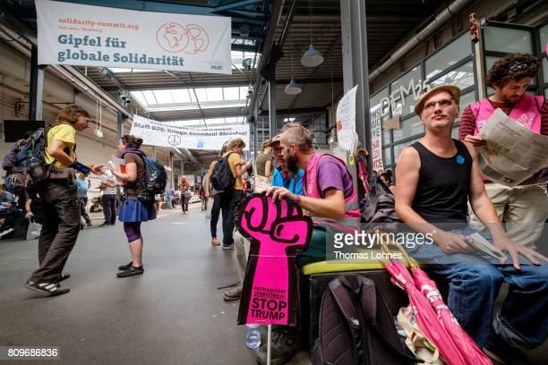 Activists gather for an alternative July 56 Solidarity Summit to the upcoming G20 economic summit on July 6 2017 in Hamburg Germany Approximately...